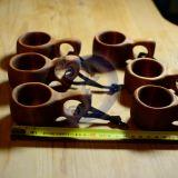 Maži mediniai puodeliai - Kuksos