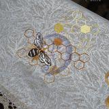 Lininė siuvinėta staltiesė - bitutė
