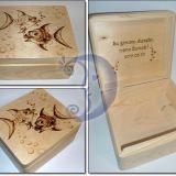 Medinė dėžutė su zodiako ženklu