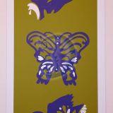 Rankų darbo paveikslas iš odos
