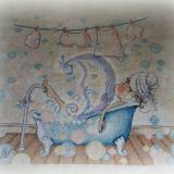 Mergina vonioje (neįrėmintas)
