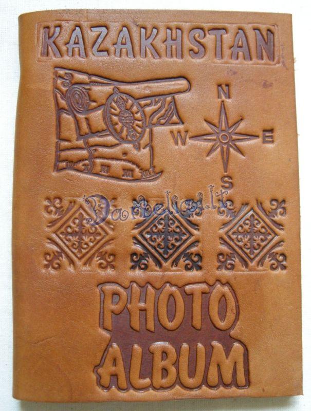 Казахские кожаные сувениры ручной работы.