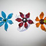 Stiklinis magnetas - gėlė