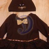 Pelytės karnavalinis kostiumas mergaite