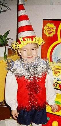 Новогодний костюм для мальчика буратино своими руками
