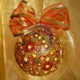 Kalėdinis stiklinis burbulas