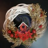 Kalėdinis durų vainikas 25 cm