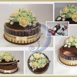 Saldainių tortas - dėžutė