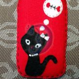 Telefono dėklas su katinu