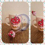 Dekoruotas puodelis