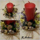 Saldainiais dekoruota zvake