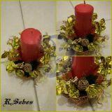Saldainiais dekoruota zvake - zvakide