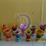 Dekoratyvinės spalvotos žvakės