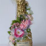dekoruotas butelis