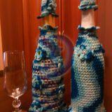 Šampaninių butelių dekoracijos