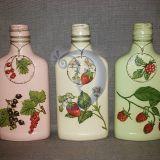 Dekoruotų butelių rinkinys