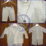 lininis kostiumas krikštynoms