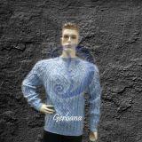 Melsvas vyriškas megztinis