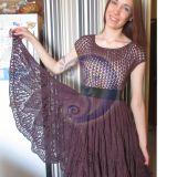 Megzta medvilninė suknia