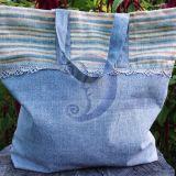 Lininis pirkinių krepšys