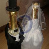 Vestuvių šampano puošyba