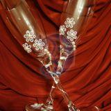 Unikalios rankų darbo šampano taurės