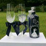 Vestuvinis ABSOLUT butelis plius taures