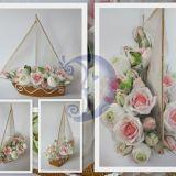 Romantiškas saldainių gėlių laivas