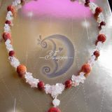 Verinys su roziniu kvarcu ir koralais