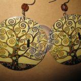 auskarai Klimtas - Medis