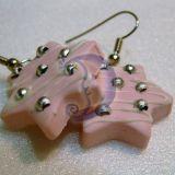 """Rožiniai auskarai-saldainiai """"Žvaig"""