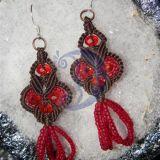 Raudonojo kristalo auskarai