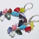 Sidabro auskariukai su akmenukais