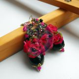 Gėlių auskarai.Pink